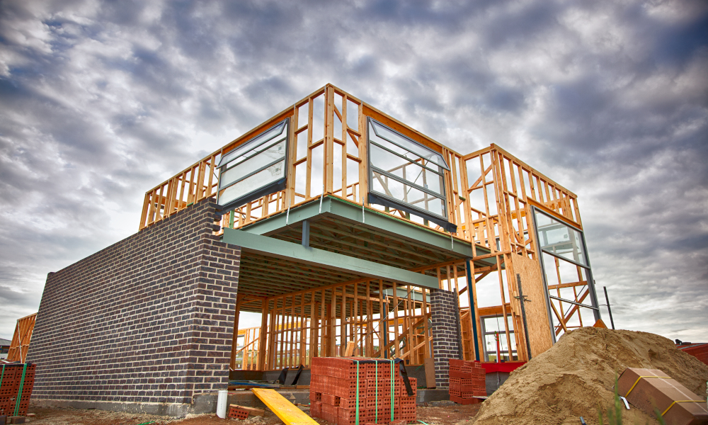 housing construction stock image