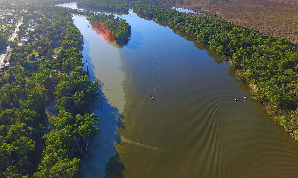 murray darling river stock image