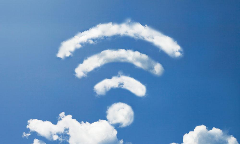 wifi cloud stock image