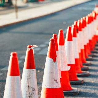 road-works-cones