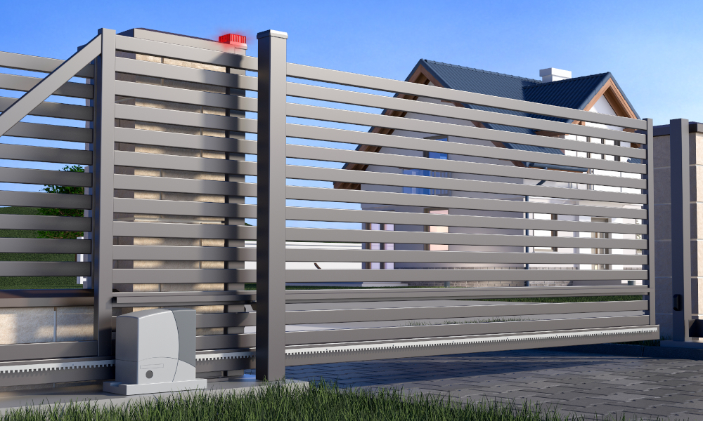 residential fencing stock image