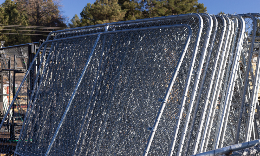 stockyard fences stock image